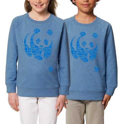 Sweat animaux en coton bio bleu
