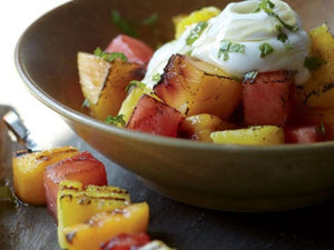Savory-Sweet Grilled Fruit Kebabs With Yogurt And Honey | Lotus Grill Hong Kong | Charcoal HK