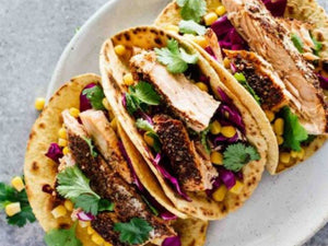 Blackened Salmon Tacos | Lotus Grill | Charcoal HK