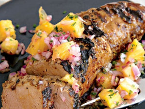 Low Fat Grilled Pork Tenderloin With Pineapple Salsa | Lotus Grill Hong Kong | Charcoal HK