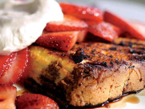 Grilled Strawberry Shortcake With Balsamic | Lotus Grill Hong Kong