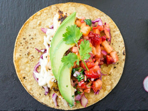 Grilled Fish Tacos with Strawberry Pineapple Salsa | Charcoal HK | Lotus Grill