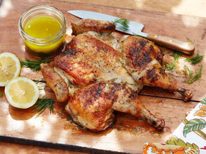 Grilled Spatchcocked Greek Chicken | Lotus Grill