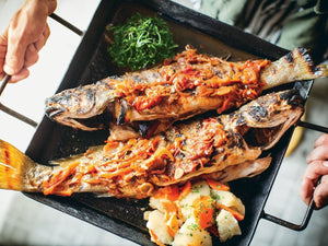 Grilled Whole Fish With Tomato-Fennel Sauce | Charcoal HK | Lotus Grill