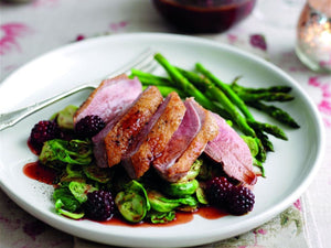 Grilled Spiced Duck Breasts with Blackberries | Maze Grill | Lotus Grill Hong Kong