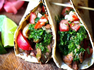 Grilled Steak Tacos With Cilantro Chimichurri Sauce | Lotus Grill Hong Kong