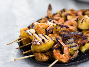 Pineapple Chipotle Shrimp Skewers | Lotus Grill | Charcoal HK
