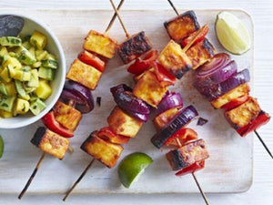 Tandoori Paneer Skewers With Mango Salsa |  Lotus Grill Hong Kong | recipe 中文 | charcoal hk