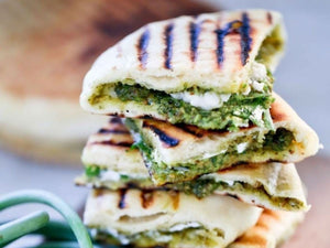 Grilled Naan Bread With Indian Garlic Scape Chutney | Lotus Grill Hong Kong