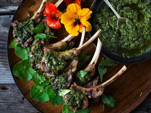 Grilled Lamb Chops With Salsa Verde | Lotus Grill Hong Kong