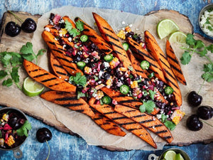 Grilled Sweet Potatoes with Fresh Cherry Salsa | Charcoal HK