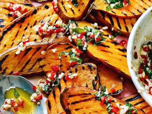 Griddled Sweet Potatoes With Mint, Chilli And Smoked Garlic | Lotrus Grill Hong Kong