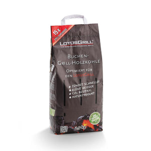 Smokeless Charcoal 2,5kg Bag: High-quality Beechwood Charcoal Has Been Designed for the Lotus Bbq Grill | Coba Grills