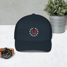 Load image into Gallery viewer, 13 Stars Trucker Cap