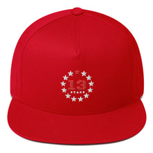 Load image into Gallery viewer, 13 Stars Flat Bill Snapback
