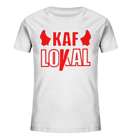 Kaf loyal, kaf lokal - Kids Organic Shirt