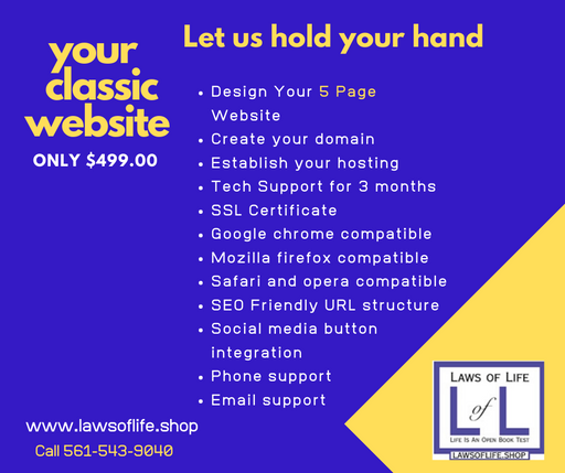 Your Classic Website - $499.00