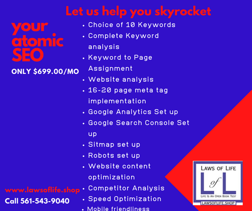 Your Atomic SEO - $699.00/month