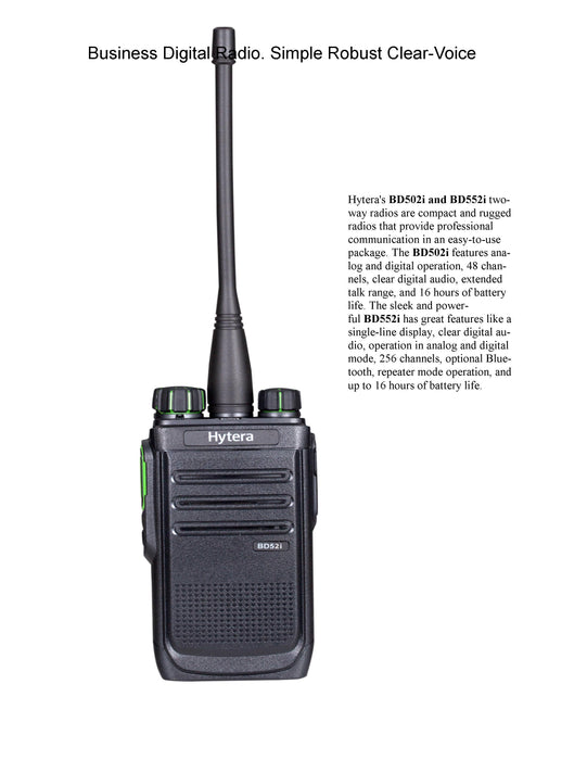Emi at First Officer - Order - TWO HYTERA RADIOS Plus shipping - HYTERA BD-502i 48 - $667.00