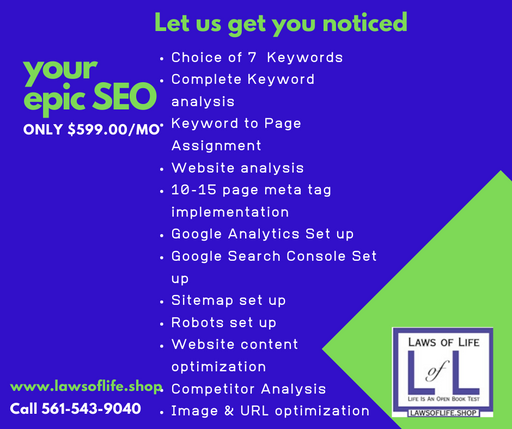 Your Epic SEO - $599.00/month