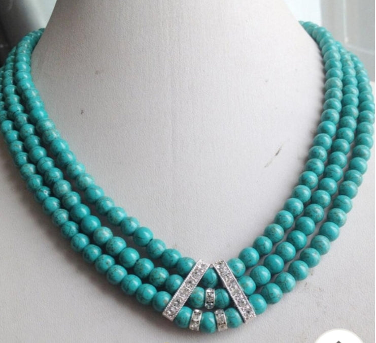 Ray of Blue Turquoise Necklace