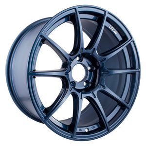 SSR GTX01 18x9.5 5x114.3 22mm Offset Blue Gunmetal Wheel