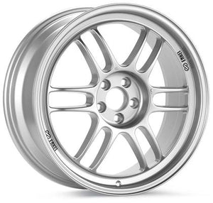 Enkei RPF1 18x9.5 5x114.3 15mm Offset 73mm Bore Silver Wheel