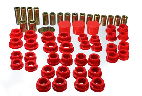 Energy Suspension 02-09 350Z / 03-07 Infiniti G35 Coupe Red Rear Control Arm Bushing Set
