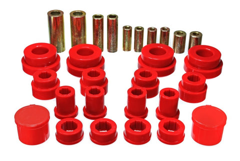 Energy Suspension 02-09 350Z / 03-07 Infiniti G35 Red Front Control Arm Bushing Set