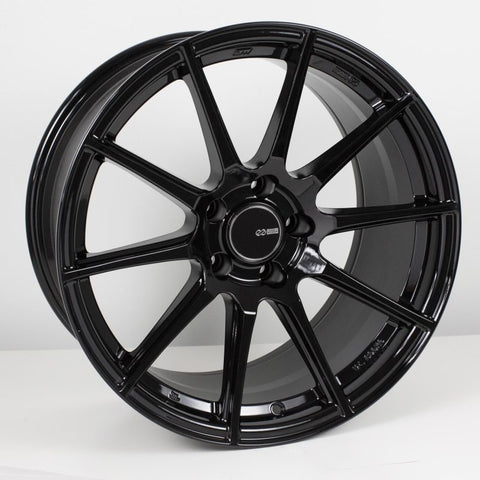 Enkei TS10 18x9.5 35mm Offset 5x114.3 Bolt Pattern 72.6mm Bore Dia Gloss Black Wheel