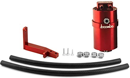 Boomba Racing Stage 2 Oil Catch Can Kit (PCV) Red - Subaru WRX 2015+