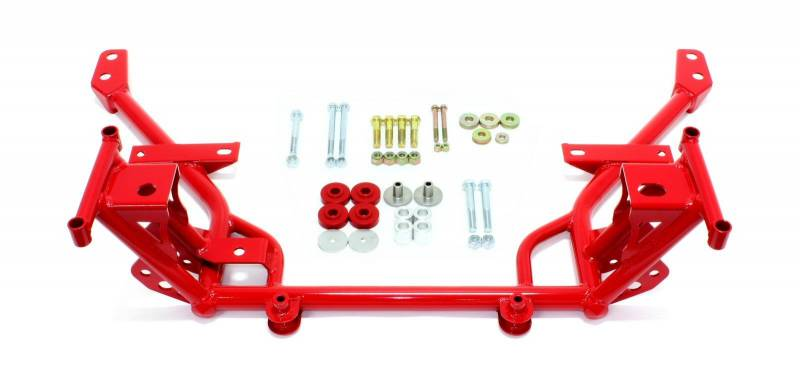 BMR 05-14 S197 Mustang K-Member w/ STD. Motor Mounts and STD. Rack Mounts - Red