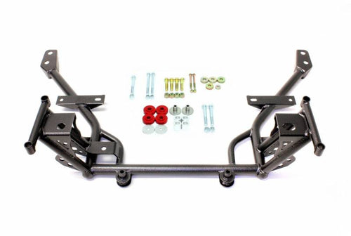 BMR 05-14 S197 Mustang K-Member w/ STD. Motor Mounts and STD. Rack Mounts - Black Hammertone