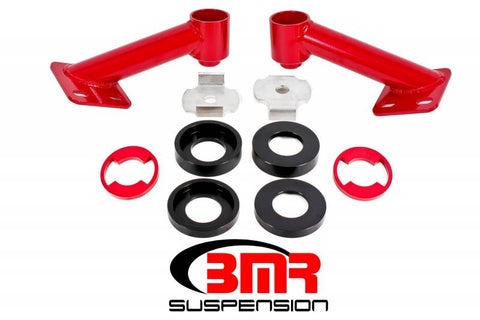 BMR 15-17 S550 Mustang Cradle Bushing Lockout Kit - Red