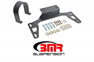 BMR 11-14 S197 Mustang Front Driveshaft Safety Loop - Black Hammertone
