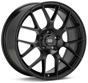 Enkei Raijin 18x9.5 35mm Offset 5x114.3 Bolt Pattern 72.6 Bore Dia Black Wheel