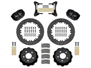 Wilwood DynaPro 4R Drag Race Rear Big Brake Kit w/ Drilled Rotors - Anodized Gray Calipers (Mustang 15-20 All)