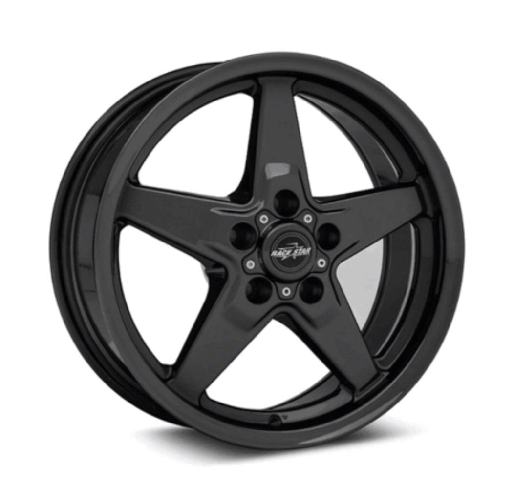 Race Star 17x7 Bracket Racer Wheel Ford Mustang Gloss Black 92-770147B