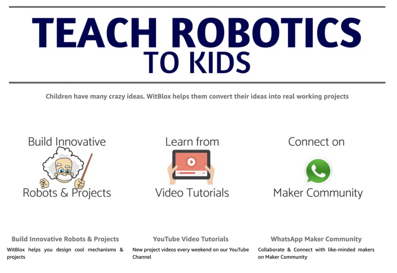 Arduino robotics classes with WitBlox for 10 years and above intl