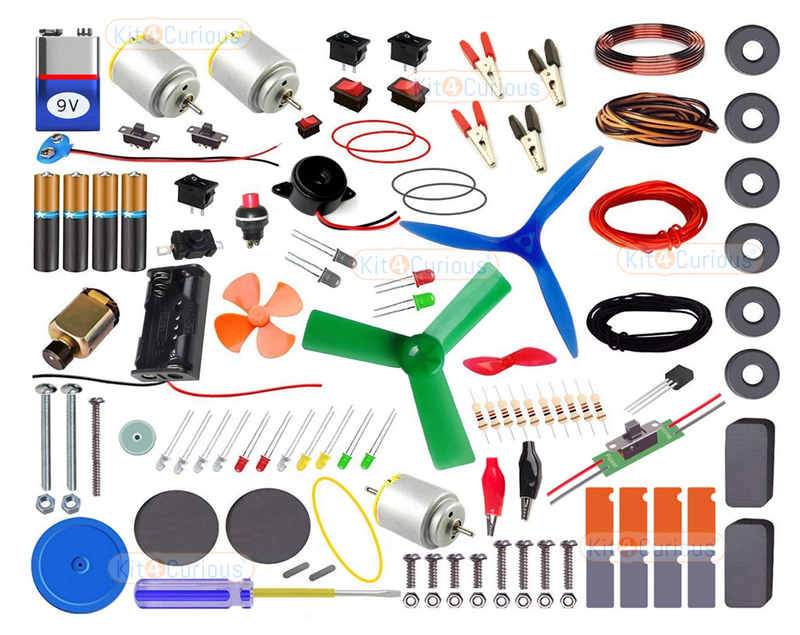 Robotics experiment kit - Kit4Curious Super Kit with 100 items