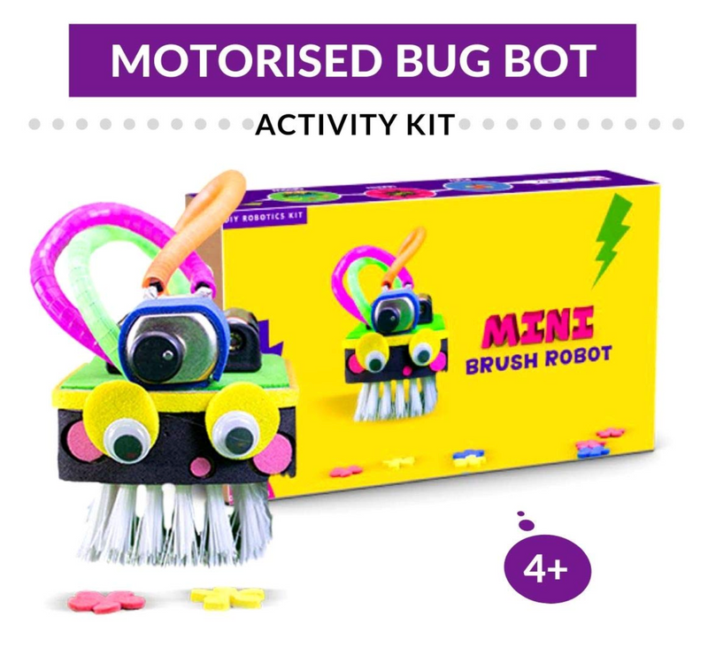 Be Cre8v -  Mini Brush Robot kit