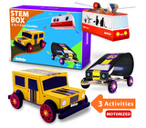 Be Cre8v - 3 in 1 STEM Activity Cars Combo Box
