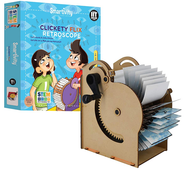 Science experiment kit -  Clickety Flix Retroscope Movie Making Machine