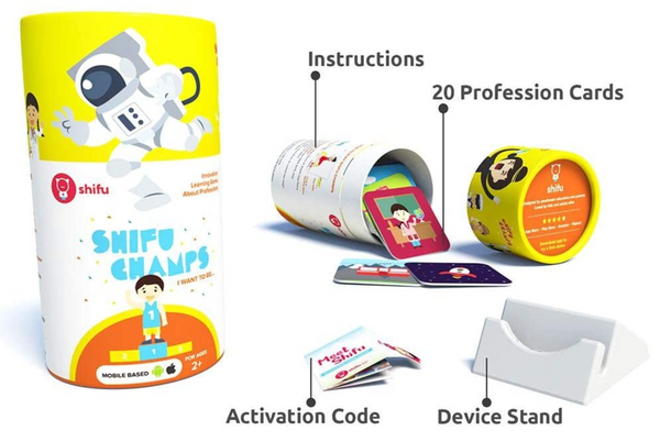 Shifu Champs - 4D Educational Augmented Reality Based game describing Workplace , Uniforms | 20 Flashcards |