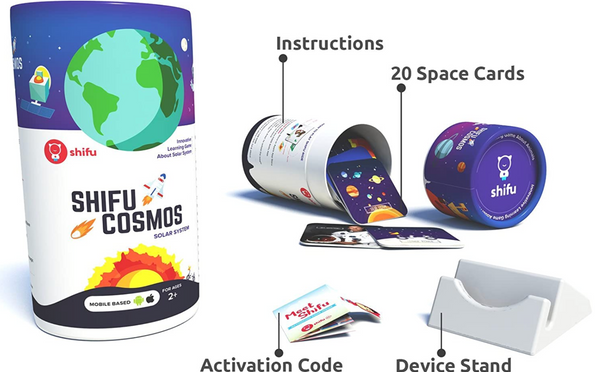 Shifu Cosmos - 4D Educational Augmented Reality Based game describing celestial bodies, phenomena | 20 Flashcards |