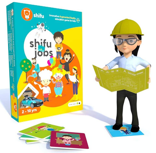 Shifu Jobs -  4D Educational Augmented Reality Based game describing Helpers, Workers and Tools | 60 Flashcards |