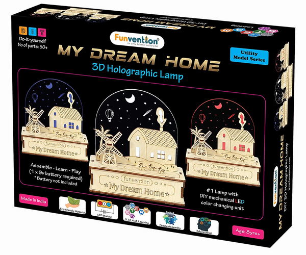 Funvention -  3D Holographic Lamp - My Dream Home