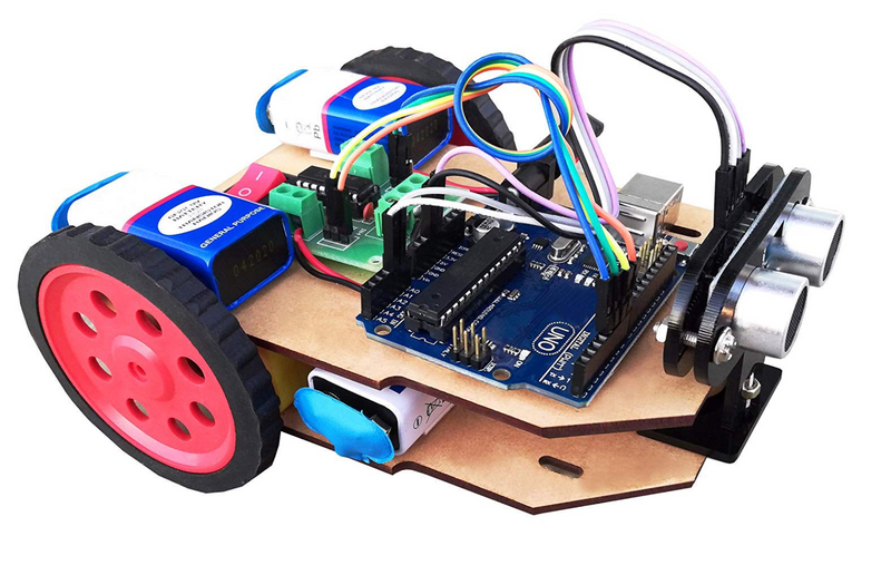 Kit4Curious - Arduino based obstacle avoidance robot complete kit