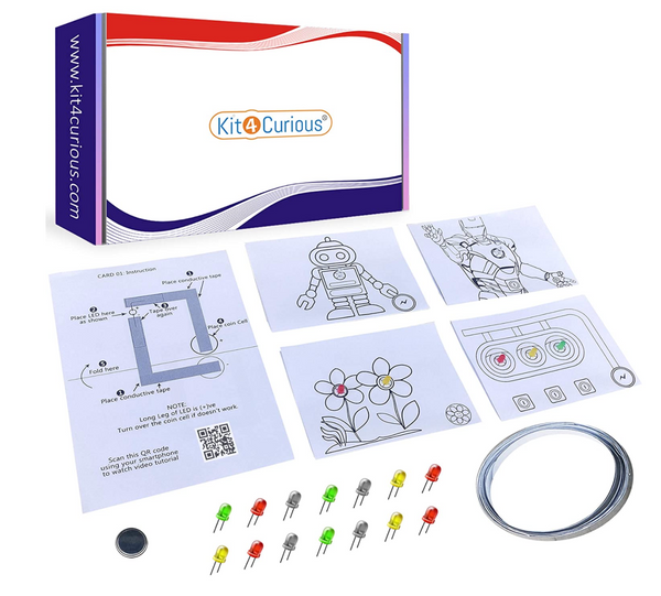 Kit4Curious - DIY Paper Circuit kit Complete with Instructions