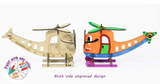 3D Coloring Model Helicopter (Pack of 24) - DIY Desk Organizer Pen Stand